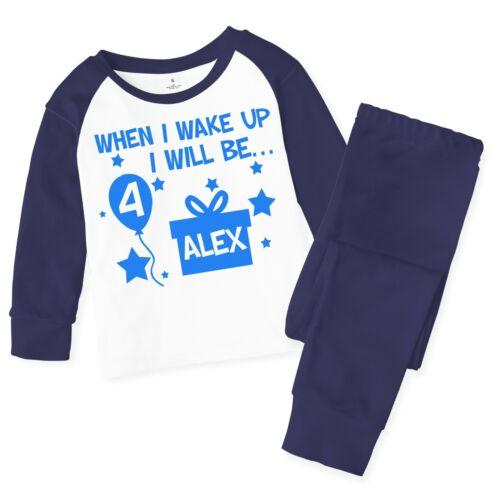Personalised When I Wake Up Children/'s Baby Pyjamas Pjs Kids Birthday Pyjama 136
