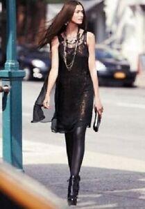 Image Is Loading Simply Vera Womens Black Bronze Dress Chiffon