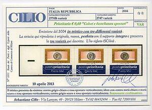 2004-REPUBBLICA-POSTA-PRIORITARIA-0-60-VARIETA-039-CERTIFICATO-CILIO-C-3074