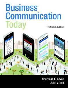 Business communication today by courtland l bove and john v thill business communication today by courtland l bove and john v thill 2014 hardcover fandeluxe Gallery