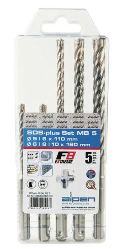 Hartgestein u.a. SDS Plus Bohrersatz 5-10mm F8extrem für Stahlbeton