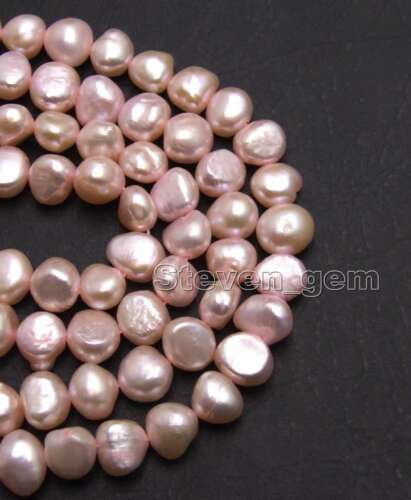 8-9mm Natural Light Pink Baroque Pearl Loose Bead for Jewelry Making Strand 14/'/'