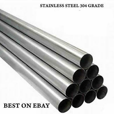 """34.8mm OD 1.375/"""" 500mm 304 Stainless Steel Exhaust Round Tube Pipe 1.5mm Wall"""