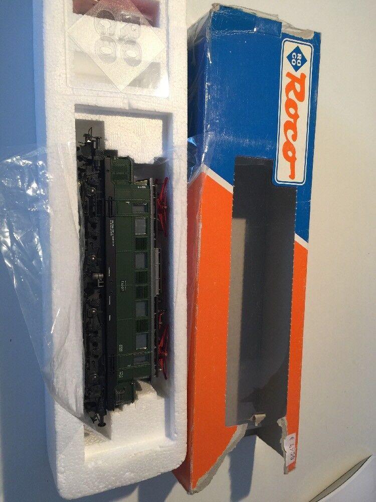 Seguimiento de H0 Roco 43404 BR E 44 017 E locomotora ópticamente como nuevo caja original