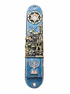 Mezuzah-Case-Beautiful-Jerusalem-Door-Mezuza-With-Menorah-For-7-Cm-Scroll