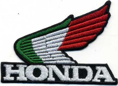 Toppa ricamata patch termoadesiva logo marchio HONDA ITALIA cm 9