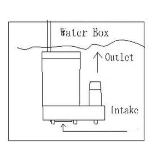 Mini pompes à eau submersibles micro de pompe à moteur Pompes à eau à