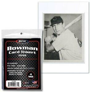 BCW-1948-Bowman-Trading-Card-Insert-Sleeves-2-7-16-034-x-3-1-2-034-Qty-25