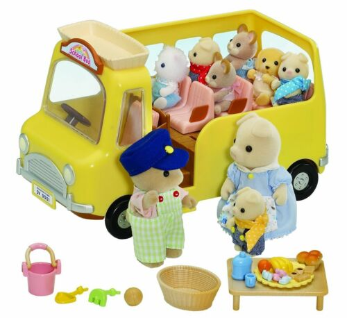 Brand New SYLVANIAN FAMILIES Nursery School Bus 4715