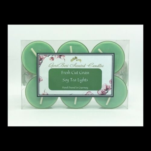 GeriBeri Scented Candles Fresh Cut Grass Scented Soy Tea Lights