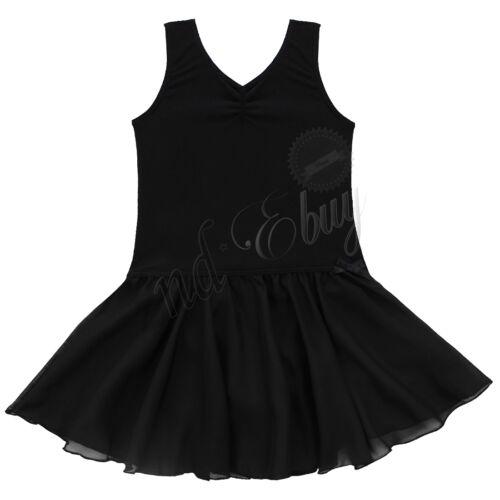 Girl Gymnastics Leotard Dress Ballet Leotard Dance Tutu Skirt Dancewear Costume