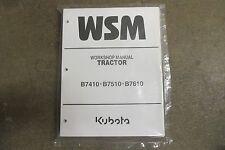 Kubota B7410 B7510 B7610 B 7410 7510 7610 tractor repair & maintenance manual
