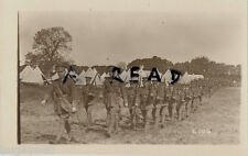 Soldier Group Northumberland Fusiliers ?? marching past a tented camp Worthing ?