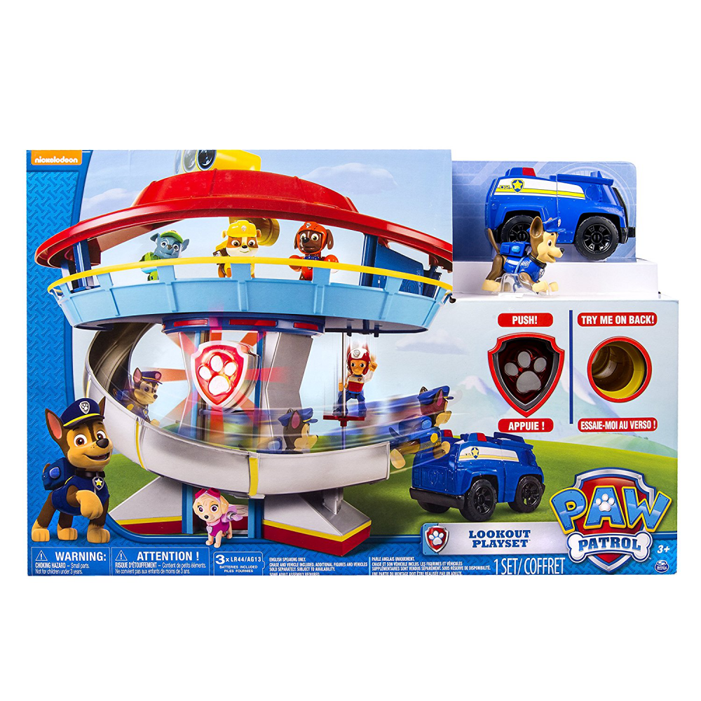 Spin Master 6022632 - Paw Patrol -Lookout Headquarter Inkl. Chase Figur Fahrzeug