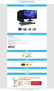 Ebay Templates Listing Auction Professional Responsive Mobile Design HTML 2019