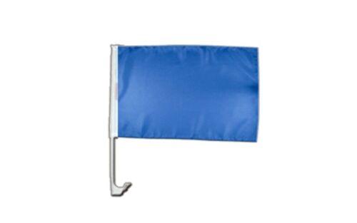 Einfarbig Blau Autofahne Autoflagge Fahnen Auto Flaggen 30x40cm
