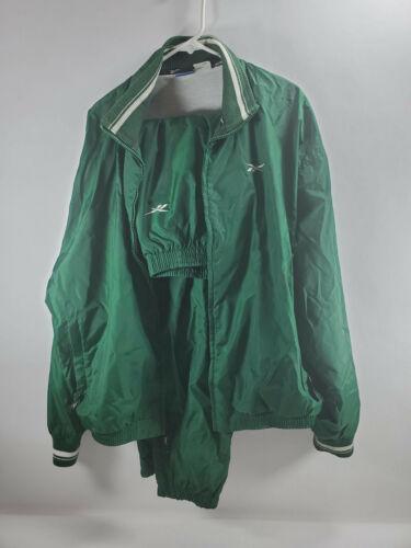 Vintage Reebok Mens Tracksuit Suit Lined Green XL