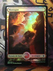Battle-for-Zendikar-Montagne-Textless-n-265-FOIL-VF-MTG-Magic-NM