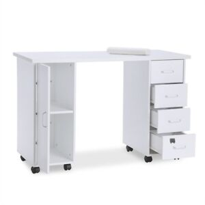 Manicure Nail Table Beauty Care Salon Station Mobile Drawers Desk ...