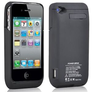 buy online 636b0 1ff89 Details about iPhone 4/4S Power Bank Charger Case Portable External Battery  Power Pack Cover