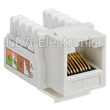 Pack of 20 Keystone Jack Cat 6 Network Ethernet 110 Punchdown 8P8C Cat6 White