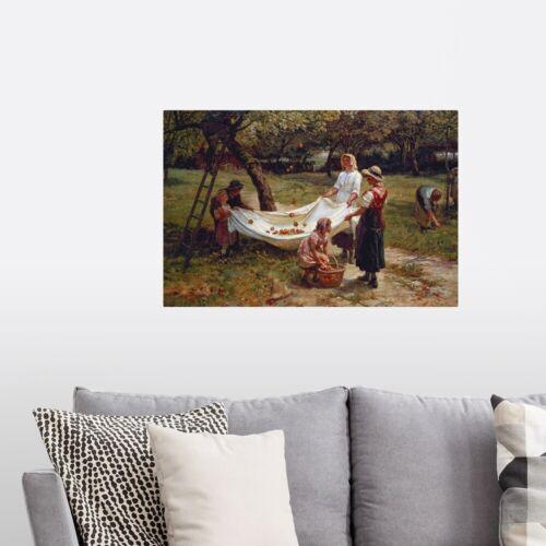 The Apple Gatherers 1880 Poster Art Print Home Decor