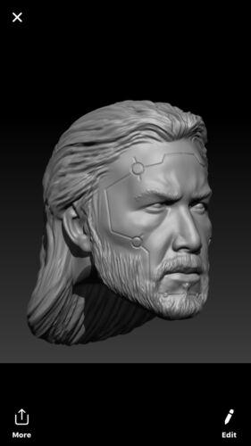 Star wars Darth reven custom head sculpt hasbro black series
