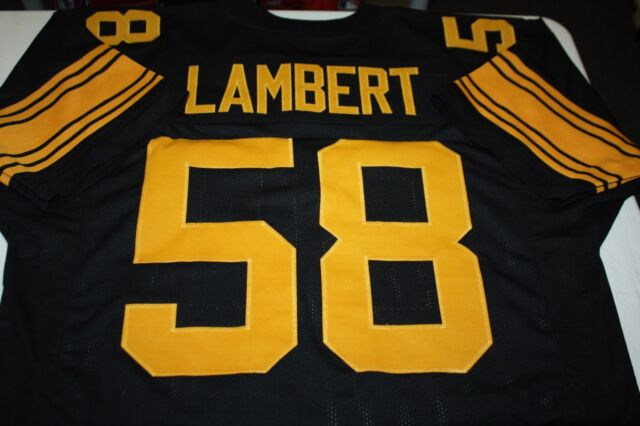 JACK LAMBERT #58 SEWN STITCHED HOME COLOR RUSH JERSEY HOF 1990 SIZE XLG
