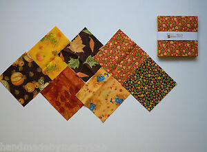 Harvest fall patterns charm pack quilt fabric 42 pieces 5 quot squares