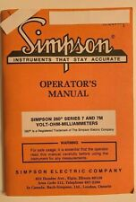 Simpson Model 260 Series 7 Amp 7m Volt Ohm Milliammeters Operators Manual