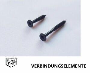 50 Stück schwarze Spanplattenschrauben EDELSTAHL A2 SCHWARZ Senkkopf 3,5X30 TORX