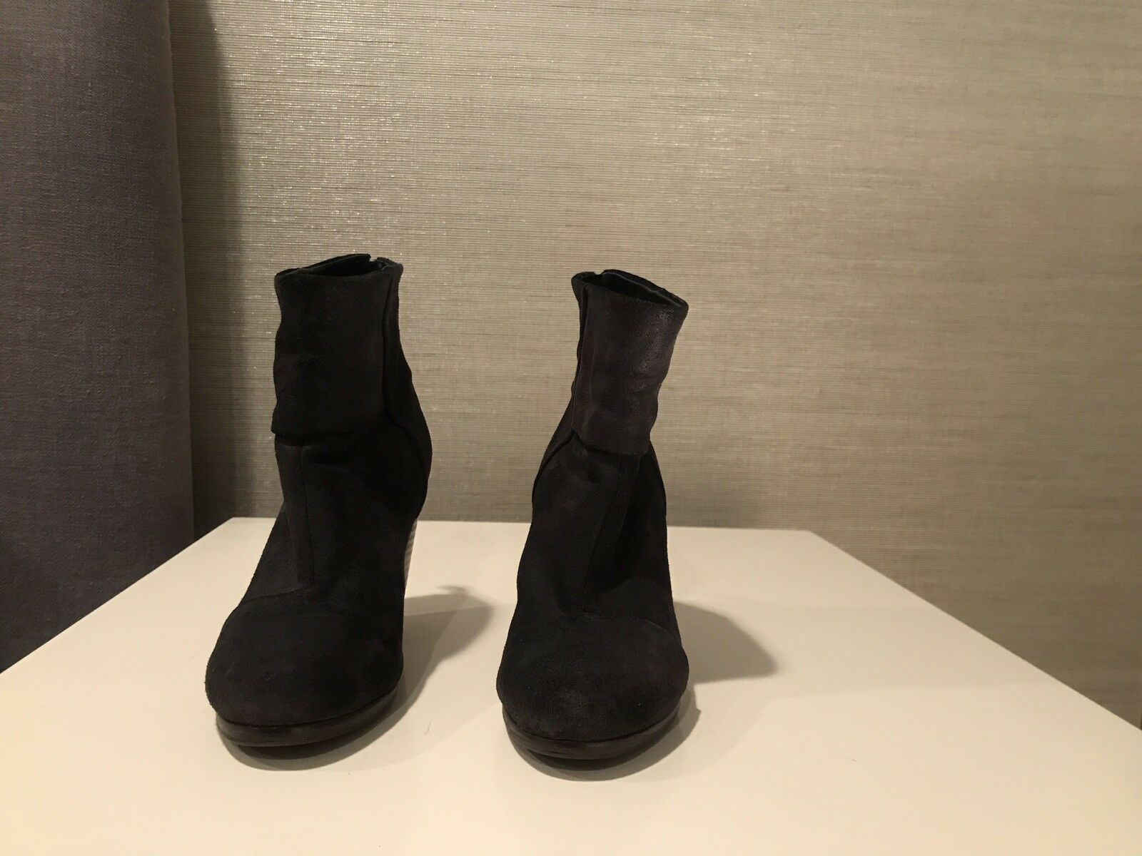 Rag & & & Bone Classic Newbury Black Leather Nubuck Zip Up Boots EUR 35 US 5 6ed491