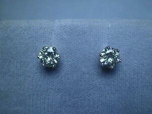 1505f3df5 Moissanite Screwback Earrings 6 prong 1.6 carat 14K White Charles ...