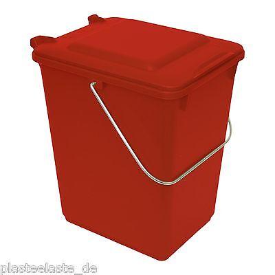 1x Bio Boy Abfalleimer Mülltonne Restmüllbehälter rot 10 Liter  Küche  (22275x1)