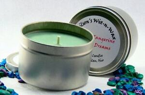 Tin Soy Candle Custom scents 8 oz highly scented