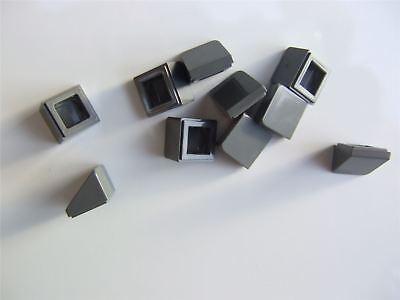 10 x Lego Grey Roof tile size 1x1x2//3, ABS - 4504378 Parts /& Pieces