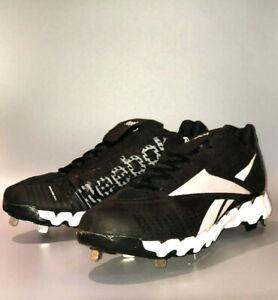 Reebok-Baseball-Cleats-Size-11-5-Black-Metal-Low-Cleats-Reebok-ZigCooperstown