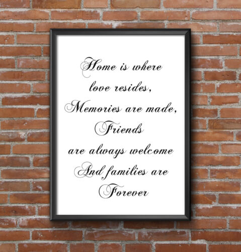 INSPIRATIONAL MOTIVATIONAL FAMILY LOVE FRIENDS POSITIVE QUOTE POSTER PRINT