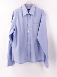 Valentino-Men-s-Button-Up-Long-Sleeve-Shirt-Gingham-Checked-Size-16-1-2-34-35