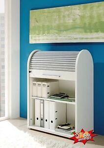 Büroschrank abschließbar  Details zu Rolloschrank, weiß, Rollladenschrank, Aktenschrank, Büroschrank,  abschließbar
