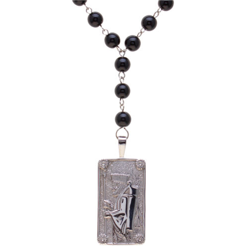 Silver Pt Persian King Soldier Necklace Chain Agate Chain Persia Farvahar gift