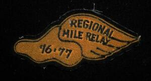 VINTAGE-1977-SCHOOL-REGIONAL-HILL-RELAY-BROWN-AND-BLACK-PATCH-6-1-5-034-X-3-034
