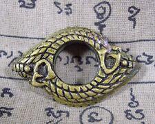 Ouroboros Naga Ring 2 Heads Eat Tail Powerful Dragon Antique Thai Buddha Amulet
