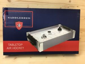 Image Is Loading Saddlebred Tabletop Air Hockey Game Arcade Family Fun