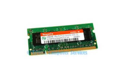 CA68 HYMP532S64P6-E3 GENUINE HYNIX LAPTOP MEMORY 256MB 1Rx16 PC2-3200S-333-12
