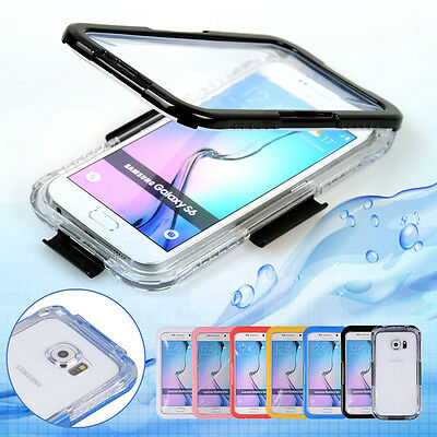 6PCS Waterproof Dust Sand Snow Dirt Proof Soft Case Cover For Samsung Galaxy S6