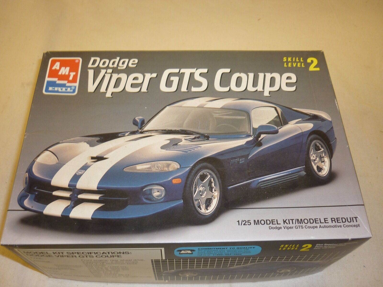 AMT un made plastic kit of a Dodge Viper GTS Coupe, boxed