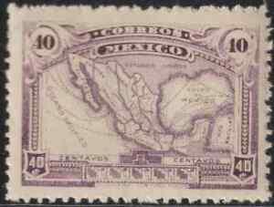 OL52-MEXICO-1915-40c-MAP-MNH