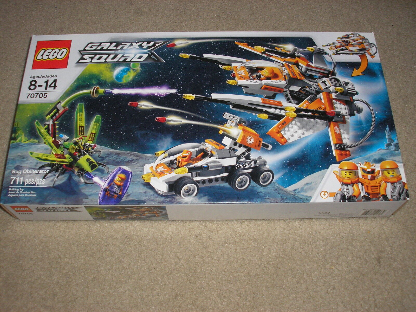 New Factory Sealed Lego 70705 Building Toy Galaxy Squad Bug Obliterator
