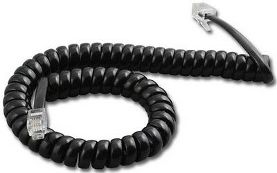 Avaya Spirit Black 12 Ft Handset Cord 6B 24B Coil 6 24 Button Phone AT/&T Lucent